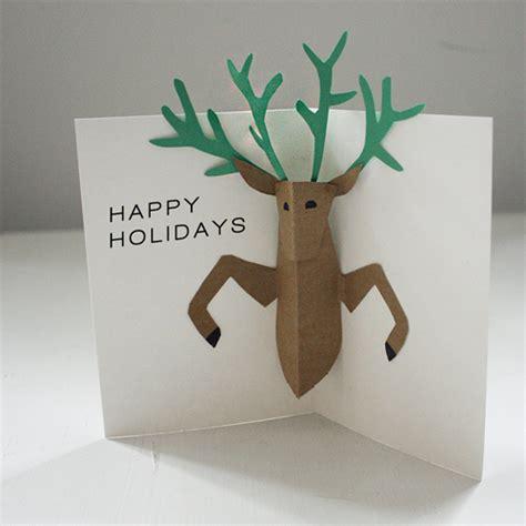 Reindeer Pop Up Card Template by Diy Pop Up Reindeer Card Design And Paper