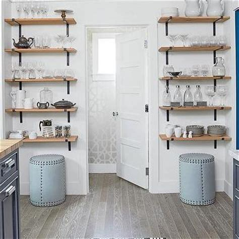 stacked wood kitchen shelves with iron brackets wood and iron kitchen shelves design ideas