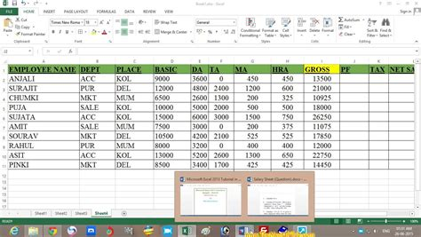 Salary Spreadsheet by Salary Sheet Formula In Excel 2007 How To