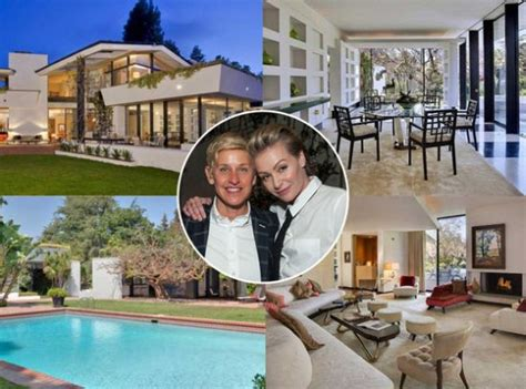 ellen degeneres house ellen degeneres net worth salary biography house wife