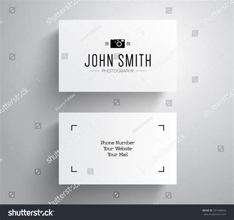 business card template with mascot vector photographer photography business card template