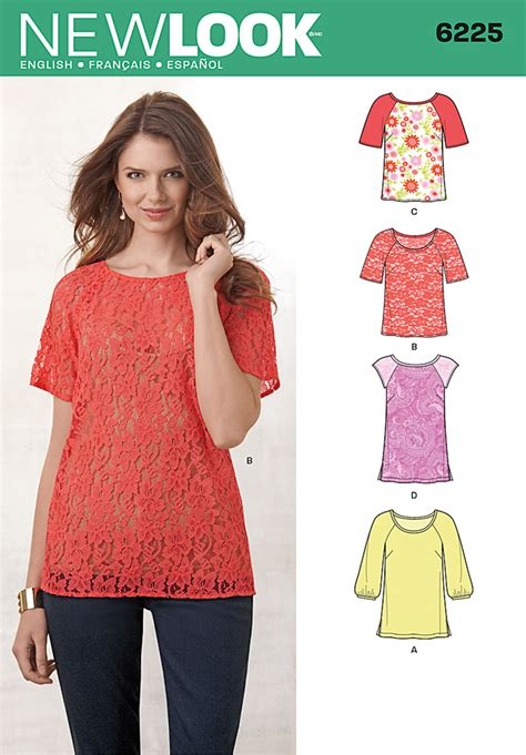 pattern review best patterns 2013 new look 6225 misses tops in two lengths