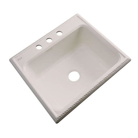 Drop In Kitchen Sinks Single Bowl Thermocast Wentworth Drop In Acrylic 25 In Single Bowl
