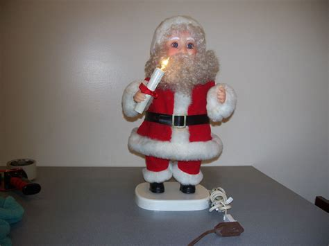 2 motionette animated christmas santa claus light up