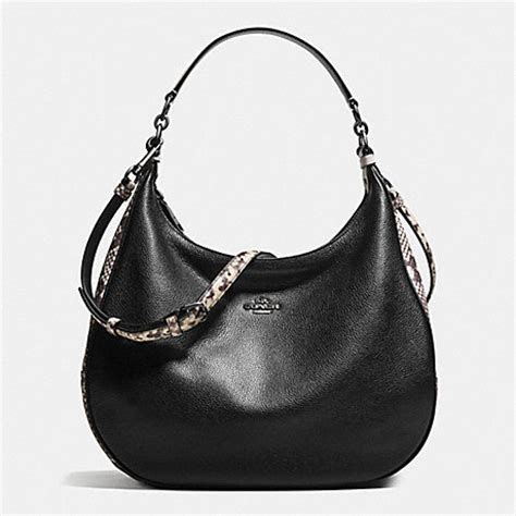 Coach Keisey Snake Embosed coach f57503 harley hobo with snake embossed leather