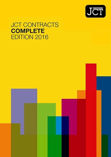 jct design and build contract 2005 edition jct contracts complete 2016 edition