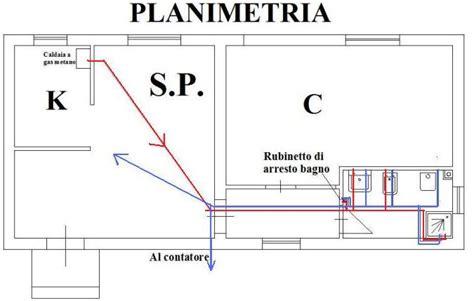 relazione tecnica appartamento impianto idrico nel bagno wc acqua calda e fredda dei