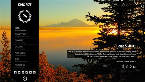 wordpress theme kingsize free kingsize fullscreen photography wordpress theme
