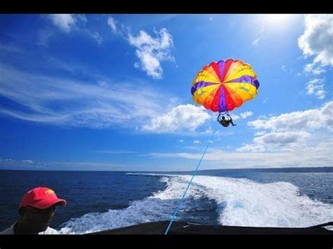 boat parachute boat parachuting fail penang youtube