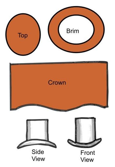 top hat pattern miniatures printables pinterest
