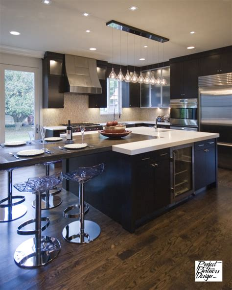 t shaped kitchen island fabulous kitchen contemporary kitchen chicago by