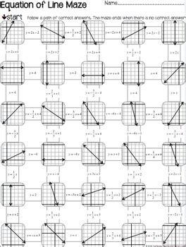 slope maze graph mazes 3 worksheets coordinates slope
