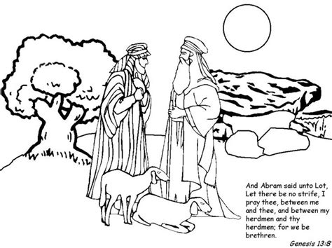 coloring page abraham and lot awesome abraham coloring page printable http www