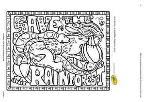 coloring page rainforest images