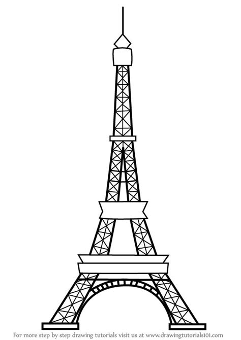 Eiffel Tower Simple Drawing 25 best ideas about eiffel tower drawing on