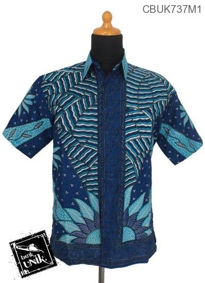 Baju Batik Di Matahari Baju Batik Kemeja Motif Tumpal Bunga Matahari Kemeja