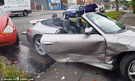 Porsche Crash by Driver S 163 80 000 Limited Edition Porsche Is Wrecked
