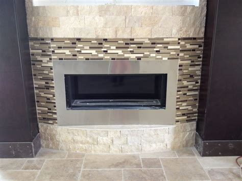 Glass Mosaic Fireplace Surround by Terrific Mosaic Glass Tile Fireplace 87 Glass Tile