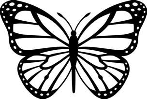 Monarch Butterfly Outline by Black And White Monarch Butterfly Free Clip