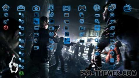theme editor ps3 ps3 themes 187 resident evil 6 leon and helena static theme