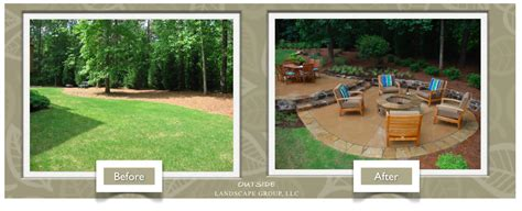 Backyard Systems Atlanta Landscaping Before And After Pictures Outside