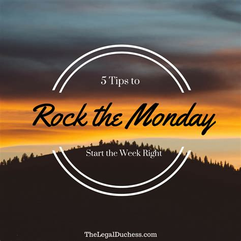 5 Dishes To Start The Week With by Rock The Monday 5 Tricks To Start The Week Right The