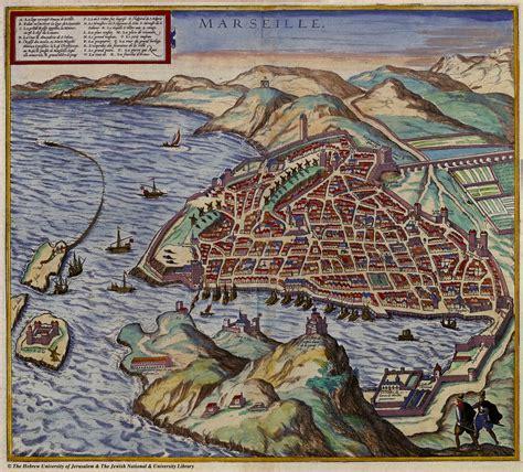 braun hogenberg cities of the map of marseille 1575 braun and hogenberg