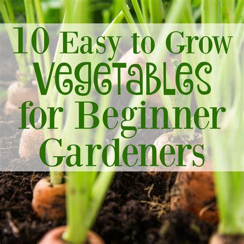 10 Easy To Grow Vegetables For Beginner Gardeners Easiest Garden Vegetables To Grow