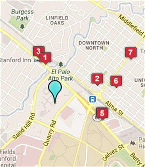 stanford shopping center map hotels near stanford shopping center palo alto ca
