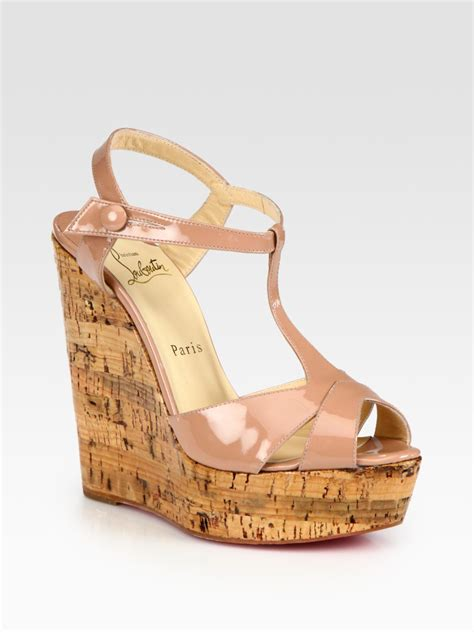 New 0204 1 Wedges Christian christian louboutin cork slide sandals buy replica shoes
