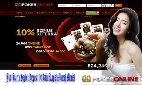 judi kartu gaplek deposit  ribu rupiah murah meriah agen judi poker  uang aslibandar
