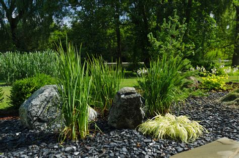 Asian Contemporary Contemporary Landscape Milwaukee Rock Garden Studio