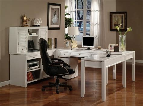 boca 6 home office set in cottage white finish by