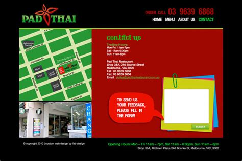 Fab Site Daszigncom by Website Design For Pad Thai Restaurant Gt Fab Web Design