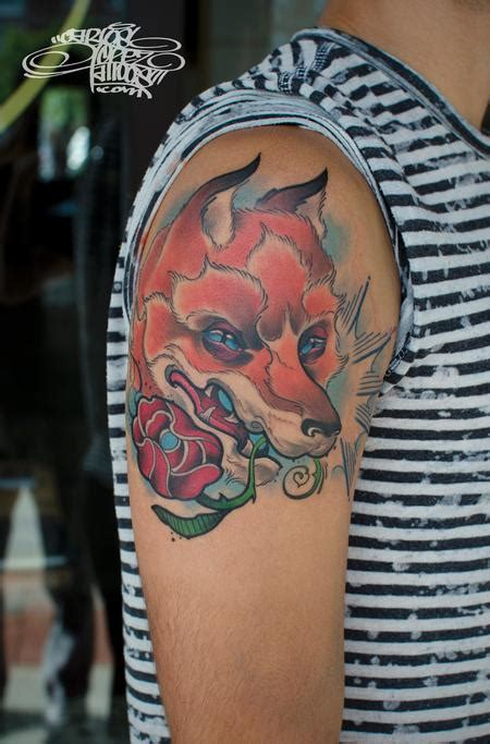 tattoo old school fox carlos graffiti