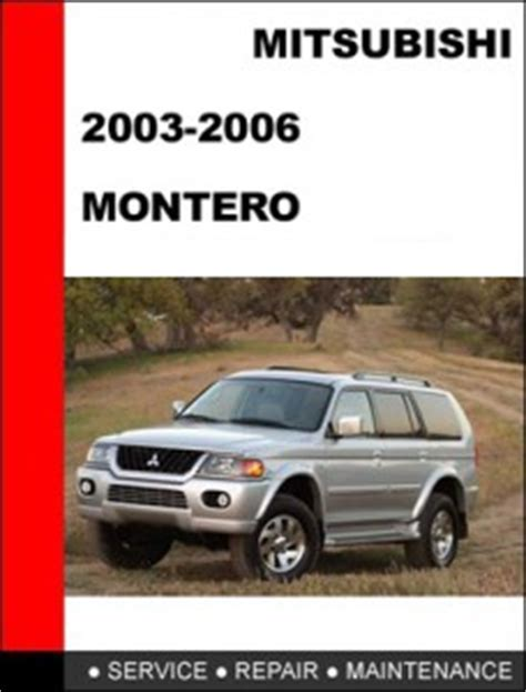 manual repair free 1986 mitsubishi pajero engine control mitsubishi montero pajero 2006 mechanical service repair manual