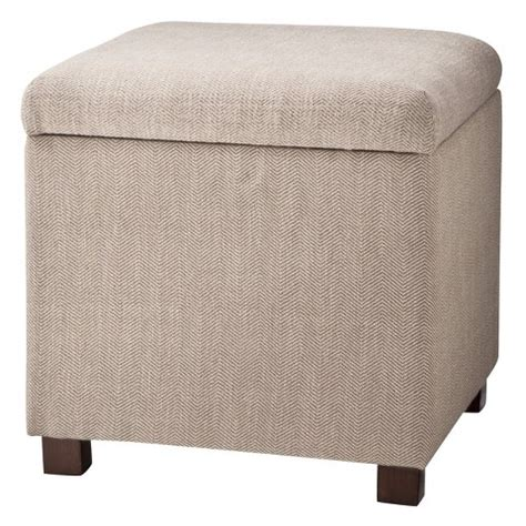 square storage ottoman square storage ottoman herringbone tan kinfine target