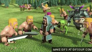 Clash Of Clan Wizard With Rabbit clash of clans wizard hair animation
