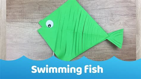 Paper Fish Craft - swimming paper fish simple craft for my crafts and