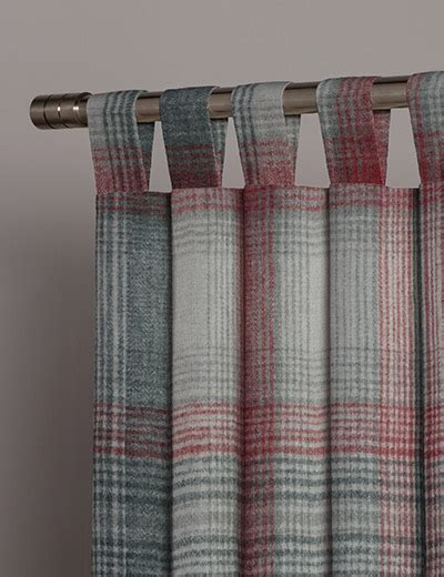 next made to measure curtain fabric curtain details for cosy check red next made to measure