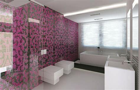 fliesenwand im badezimmer badezimmer mit mosaik gestalten 48 ideen
