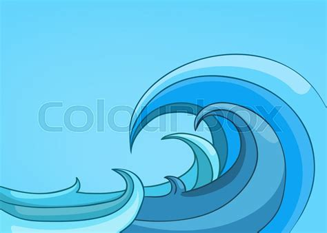 cartoon boat waves hand drawn cartoon of sea landscape colourful cartoon of
