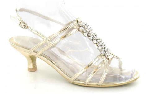 womens wide fit low heel wedding evening prom sandals