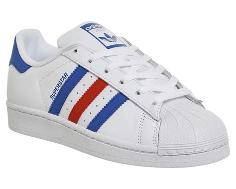 Sepatu Adidas Superstar Low Unisex Made In 1 adidas superstar 1 trainers white blue unisex sports