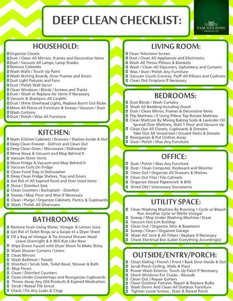 How To Deep Clean House | 17 best ideas about deep cleaning checklist on pinterest