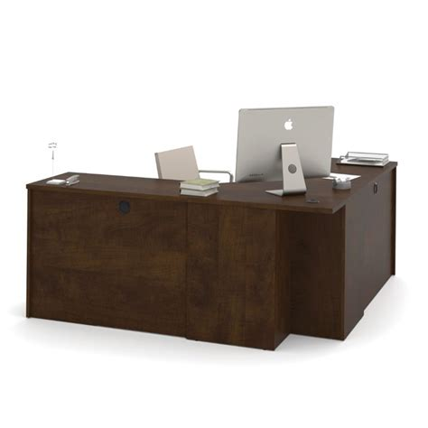 Bestar Corner Desk Bestar Prestige Plus Corner Desk In Chocolate 99899 69