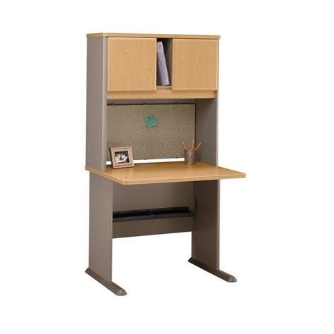 light wood computer desk bush business series a 36 quot wood computer desk with hutch