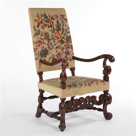 Silver Armchair An English William And Mary Style Needlepoint Armchair 09