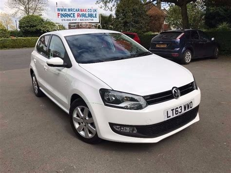 volkswagen polo white 2013 vw polo match edition white 1 2 tdi 72 mpg 163 20 tax