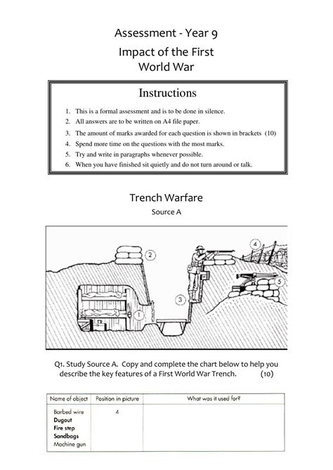 War Worksheets by World War I Worksheet Lesupercoin Printables Worksheets